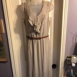 AB Studio sleeveless long dress Sz L